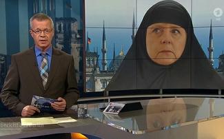 Немецкий телеканал ARD изобразил Ангелу Меркель в чадре