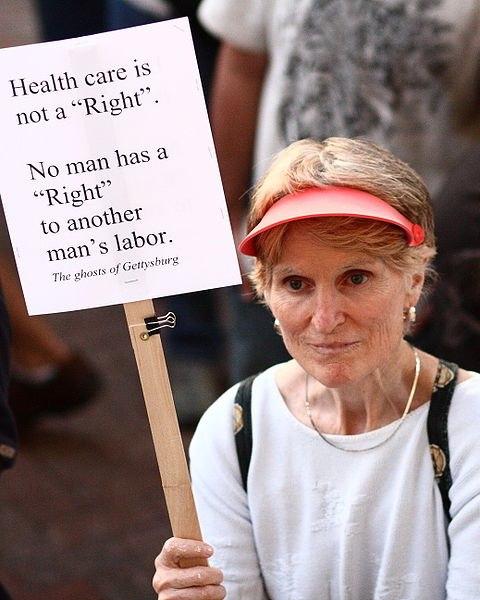 """""""Здравоохранение - не право. Ни у кого нет права на труд другого человека."""" Фото из интернета"""